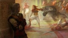 Geralt lets loose a werewolf
