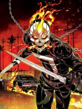 One of the many Ghost Riders in the Marvel Universe.