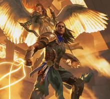 Gideon Jura and Aurelia the angel are among the white color heroes in Ravnica