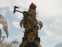 Bloodhound dressed up as a gladiator.