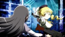 Mami fighting with Homura