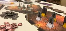 A game of Gloomhaven in progress