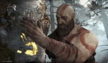 The game starts with Kratos cutting down a tree, witch tells you this game is not like the others.