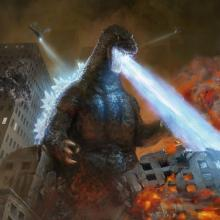 Showcase art from ikoria of the king of monsters