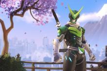 Geni in his Sentai skinj