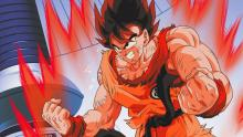 Goku training in the time chamber