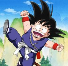 Goku has to be one of the happiest characters out there