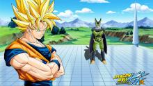 Goku and Cell togther in Arena