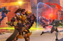 Brigitte rallying with her gold weapons equipped