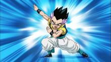 Later still, Kid Trunks and his friend Goten (Goku's younger son) would have to face Majin Buu. In order to match the monster's strength, the two perform a technique that temporarily fuses them together in mind, body, and soul to become Gotenks. (Still, you have to wonder if the kids are old enough to be doing something like this...)