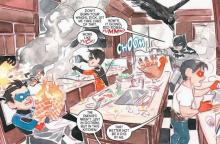 The Bat-family runs into some trouble as they try to prepare a Thanksgiving dinner.