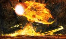 In Metrica Province found in Thaumanova Reactor, is a super large Fire Elemental who appears.  This boss is unique in that if someone has a key, a gateway will open near by leading to another boss challenge.