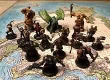 A collection of painted minis.