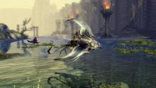 The skimmer mount in GW2 is a flying manta ray.