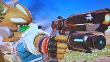 Fox has the best projectile in the game, his handy gun