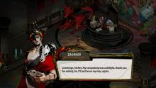 Hades' Zagreus dialogue box in-game