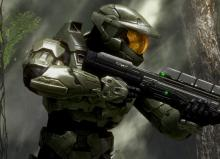 A screenshot of Chief in Halo 3's first mission