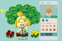 A happy Isabelle cheers us on as we create our characters.