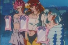 Sailor Galaxia transforms three animals into her henchmen, Hawk-eye, Tigers-eye, and Fish-eye. They are to find Pegasus who is hiding in someone's dream (Not Chibiusa) and bring him to her. Of course they meet up with the Sailor Senshi and have the longest battle with them throughout the whole series.