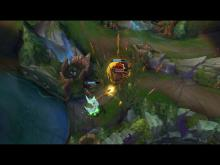 Kayle uses her ultimate to protect an ally in a crucial chokepoint.