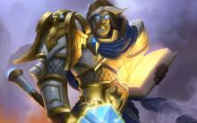 The holy paladin is a symbol of strength and peace for the alliance.