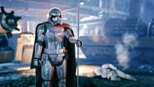 Phasma stands victorious, all her enemies vanquished.