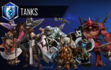 Overview of some of the tank models and their base skins posing in the Nexus Void.. From left to right, E.T.C, Johanna,Stitches, Muradin, Chen and Diablo!