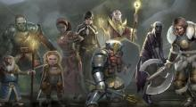 A party of Adventurers stand ready to take on their mission.