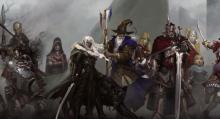Mercenaries gather with Drizzt to prepare an attack on their enemy.