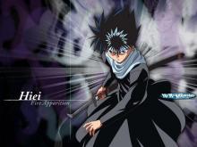 Hiei posing with his sword