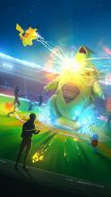 Team up with other players and battle powerful raid bosses like Tyranitar and capture them when you win!