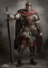 Concept art for the Highlander