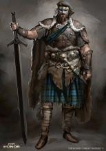Even more concept art of Highlander, this time in an alternate armor set