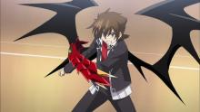 Issei gained some wings and a powerful weapon when he turned into a demon.