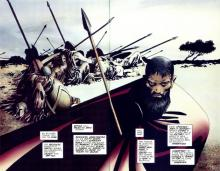 The beauty of 300 is in its double spreads
