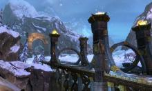 The Norn's area has a lot of ice and snow, and their capital is snow covered all year.