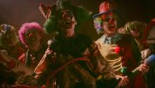 Killer clowns are in the movie to partake in massacring people.