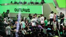 The Outlaws celebrate a victory