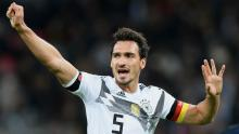 Mats Hummels plays defense for the German national team