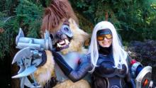 This image of a fan dressed as Hyena Warwick highlights just how much League fans love Riot's latest skin releases for the champion