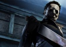 Myers admiring his knife