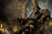 Plague sitting on her throne