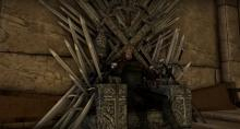 One of the many Skyrim Mods, this one allows you to construct the Iron Throne.