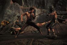 Theseus fights off a horde of enemies