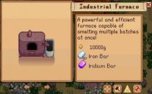 The industrial furnace mod allows for players to smelt multiple batches of ore at once.
