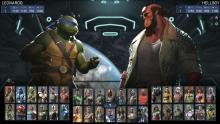 layer choosing their character from many options including TMNT and Hellboy