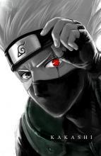 Kakashi shows off his injured eye