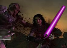 Fight in style with the lightsaber mod.