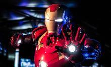 Iron Man using repulsor