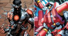 Iron Man armored suits in comic book